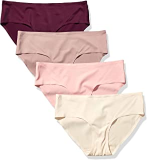 Amazon Essentials Women's 4-Pack Seamless Bonded Stretch Hipster Panty
