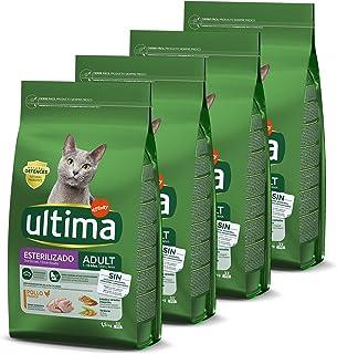 Ultima Pienso para Gatos Esterilizados Adulto con Pollo - Pack de 4 x 1,5 kg - Total: 6 kg