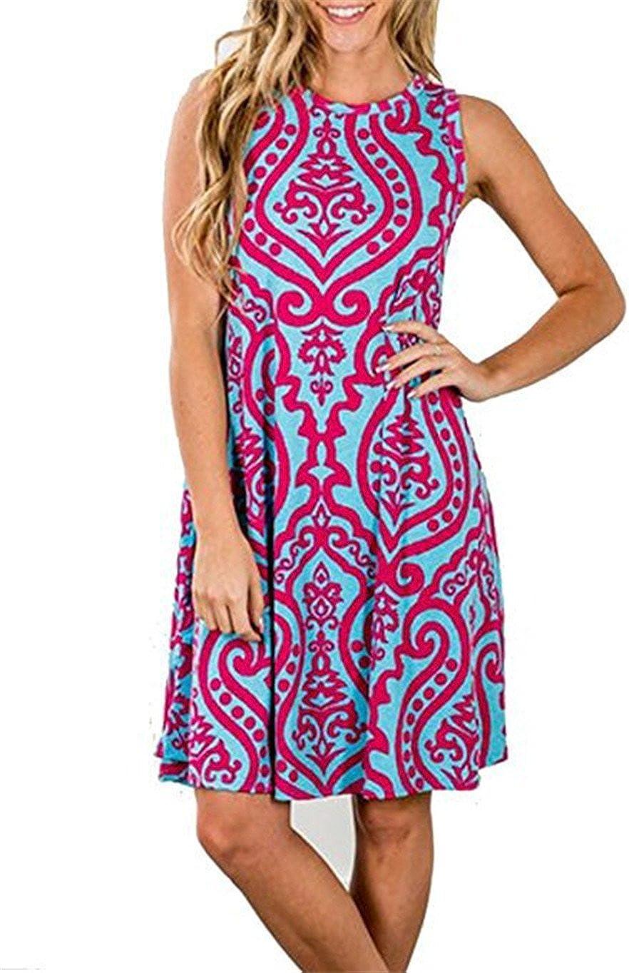 LURANEE Womens Casual Sleeveless Memphis Mall Dresses Length Knee Ranking TOP1 Dress Tunic