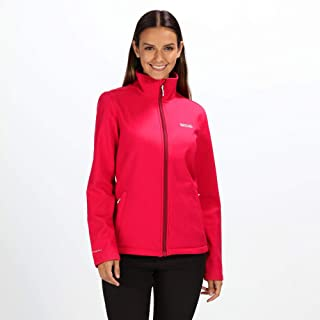 Regatta Women's Carby Water Repellent Wind Resistant Warm Backed Softshell Jacket Soft Shell, Dark Cerise, 24
