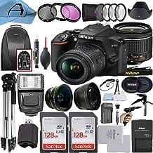 $694 » Nikon D3500 DSLR Camera 24.2MP Sensor with NIKKOR 18-55mm f/3.5-5.6G VR Lens, 2 Pack SanDisk 128GB Memory Card, Backpack, ...
