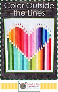 Color Outside The Lines Quilt Pattern by Kelli Fannin Quilt Designs from Seriously I Think it Needs Stitches KFQP122-46