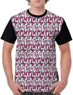 BlountDecor Casual Short Sleeve Graphic Tee Shirts,Various Sized Bugs Design Fashion Personality Customization