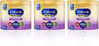 Enfamil NeuroPro Gentlease Infant Formula - Brain Building Nutrition Inspired by breast milk - Powder Can, 20 oz (Pack of 3)