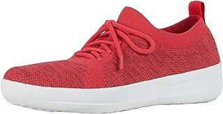 FITFLOP Women's Lace Up F-Sporty Uberknit Sneaker, Black
