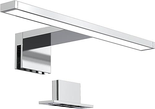 B.K.Licht lampe miroir LED, lampe armoire, applique salle de bain, lumière blanche neutre 4000 Kelvin, 5W, 650lm, IP4...