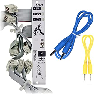 Tiptop Audio uZeus 4HP PSU with Flying Bus Board w/ 2 Cables