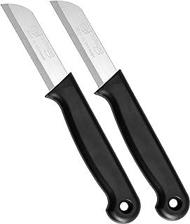 Schwertkrone Schälmesser Set Solingen - 2 Obst- und Gemüse-Messer Bandstahl rostfrei schwarz 2-Stück