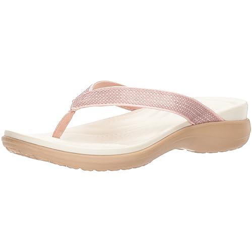 18d64b04406f9 Crocs Women s Capri V Sequin Flip Flop