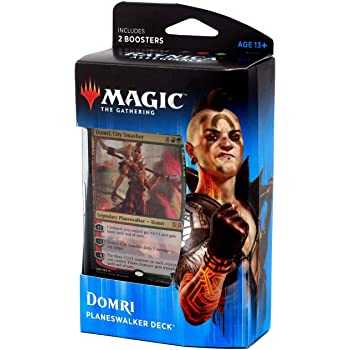 Magic The Gathering: MTG: Ravnica Allegiance Planeswalker Deck - Domri (Red/Green) w/Two Booster Packs