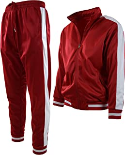 Mens Athletic 2 Piece Tracksuit Set