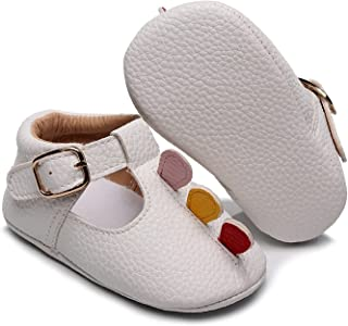 Baby Girls Boys Autumn Anti-Slip Soft Sole Dinosaur Patter Leather Shoes Infant Flats Crib Shoes (Baby Age : 0-6 Months, C...
