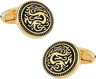 gold dragon cufflinks