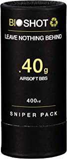 BioShot .40g 400 Round Sniper Pack Competition Match Grade Biodegradable 6mm Airsoft BBS for All Airsoft Guns