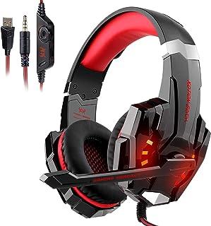 GALOPAR ゲーミングヘッドセット 有線 7.1ch 3.5mm usb 40mmドライバ マイク付き LED FPS PC ヘッドホン マイク ノイズキャンセリング ヘッドセット 騒音隔離 軽量 伸縮可能 PC PS4 PS5 Switc...