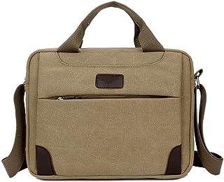 Khaki Messenger Bag for Laptop Camera FeliciaJuan Mens Shoulder Bag Simple Retro Zipper Waterproof Canvas Camera Bag Briefcase Shoulder Bag Messenger Bag Color