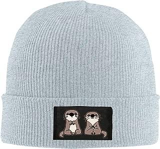 Cartoon Cute Otters Men Women Knitted Hat Comfortable Snowboarding Hat