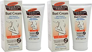 Palmers Cocoa Butter Formula Bust Cream With Vitamin E Collagen And Elastin - Pack of 2-4.4 oz Cream