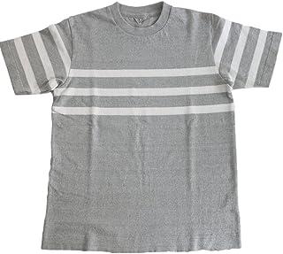 FilMelange フィルメランジェ ORSON オーソン オーガニックコットン パネルボーダー 半袖Tシャツ -MELANGE/OZON WHITE-