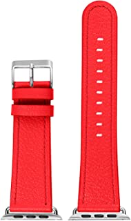 Autulet Leather Band Compatible With Apple Watch Band 38mm 40mm 42mm 44mm Band For Iwatch Series 1 2 3 4