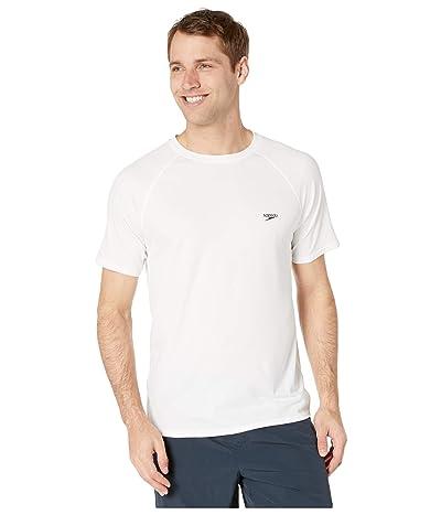 Speedo Easy Short Sleeve Swim Shirt (White) Men
