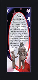 Policewomans Prayer, Police Officer Gifts for Women, Police Woman Décor, 6x12 7796BC
