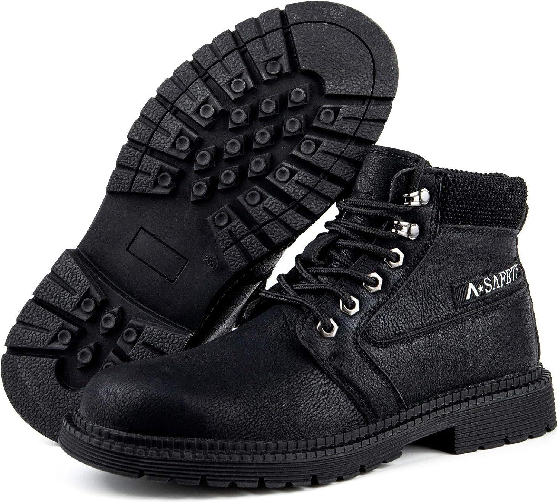 zapatos de trabajo con puntera de pl/ástico y entresuela de Kevlar CHNHIRA Zapatos de seguridad para hombre SRC botas de senderismo botas de seguridad ligeros