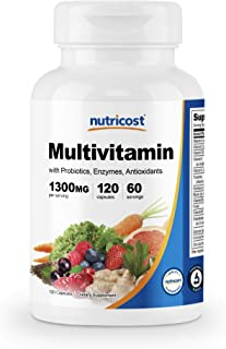 Nutricost Multivitamin 120 Veggie Capsules - with Probiotics, Enzymes, and Antioxidants