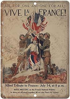 Ohuu Vive La France Vintage War Poster Art 12