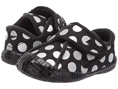Nike Kids Waffle 1 Print (Infant/Toddler) (Black/Black/Metallic Silver) Girls Shoes