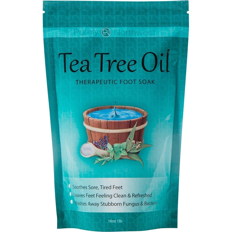ティーツリーオイル配合 フットバス用ソルト Tea Tree Oil Foot Soak With Epsom Salt 16oz (454g)