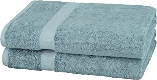 Pinzon Organic Cotton Bath Sheet (2 Pack), 100% Cotton, Spa Blue, Bath Sheet 2 - Pack