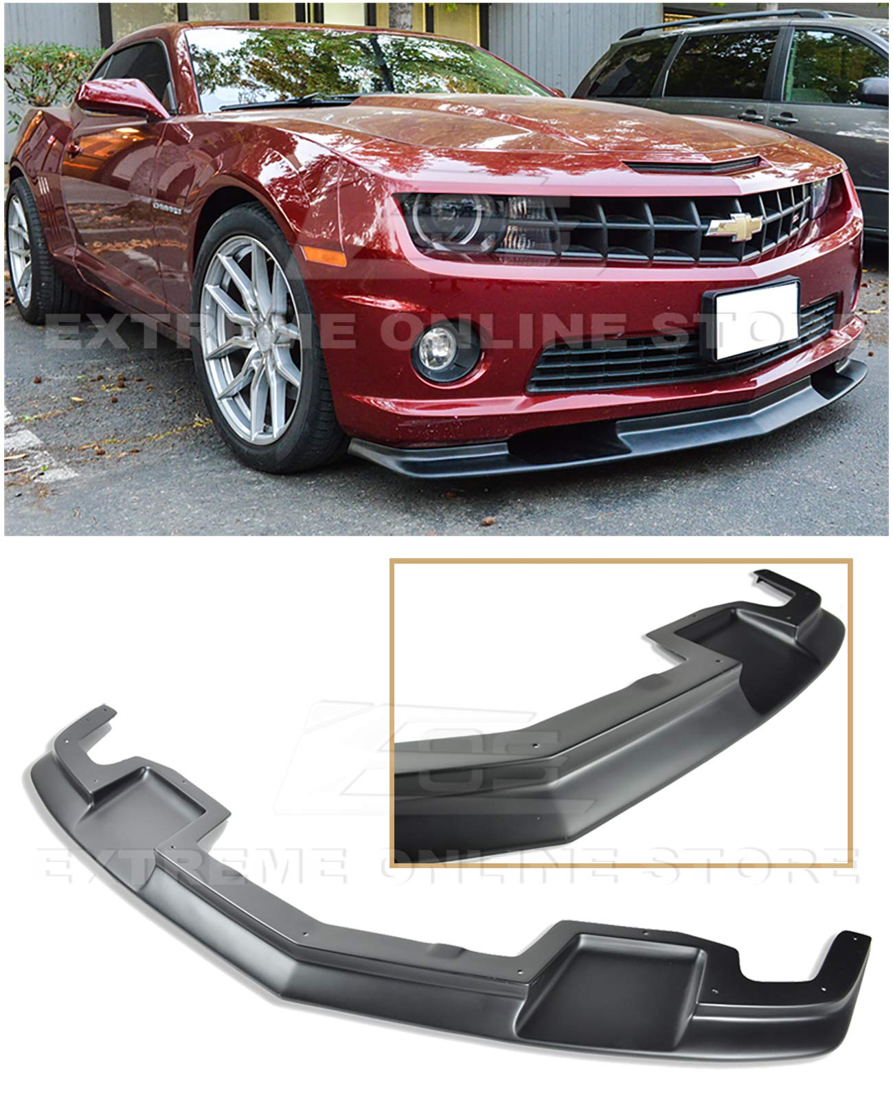 Roush Style ABS Plastic Primer Black 3 Pieces Rear Trunk Lid Spoiler Wing Lip Extreme Online Store Replacement for 2005-2009 Ford Mustang S197