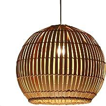 Dinastía Tang China Estilo Restaurante Escandinavo Simple Luces Esfera Arte Rattan Weave Salón Japonés Estudio Lámpara de Bambú E27 Rollsnownow (Size : 50 * 50 * 43cm)