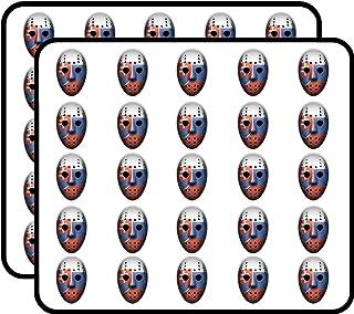 Slovakia Flag Ice Hockey Goalie Mask Art Decor Sticker for Scrapbooking, Calendars, Arts, Kids DIY Crafts, Album, Bullet Journals 50 Pack