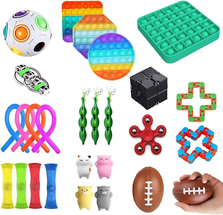 OLOPE 30Pcs Fidget Toy Set Stress Sensory Pack Relieves Tampa Mall Elegant