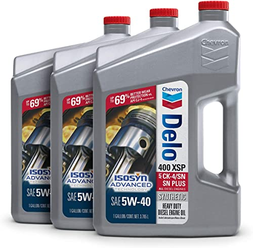 Delo 39146-CASE 400 LE SAE 5W-40 Synthetic Motor Oil - 1 Gallon Jug, (Pack of 3)