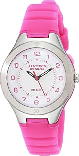 Armitron Sport Women's Easy To Read Dial Silicone Strap Watch, 25/6443NVY