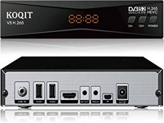Koqit V5H H.265 Free To Air FTA Satellite Receiver DVB-S2 Satellite TV Receiver HEVC DVB S2 Galaxy 19 Receivers Sat DVB Fi...