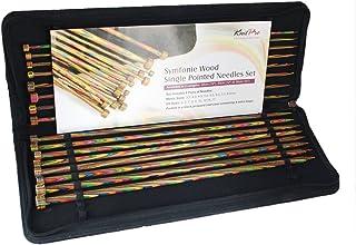 KnitPro KP20249 De Tissus Symphonie Goupilles de Tricotage Finies Simples, Bois, Multicolore, 22 x 0,5 x 11,5 cm