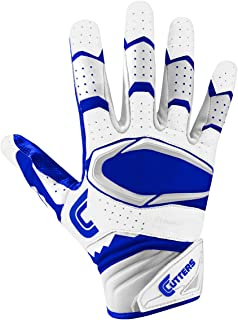 Cutters Gloves Rev Pro 2.0 Receiver Football Gloves, White/Royal, XX-Large