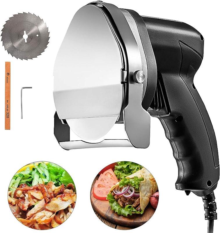 VBENLEM Electric Kebab Slicer 3 93 Inches Blade Electric Kebab Knife 80W Electric Meat Slicer Shaver 110V 2800 RPM With 2 Blades For Cutting Shawarma Doner Kebab