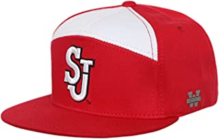 University of St John's Red Storm NCAA 7 Panel Flat Bill Snapback Baseball Cap Hat