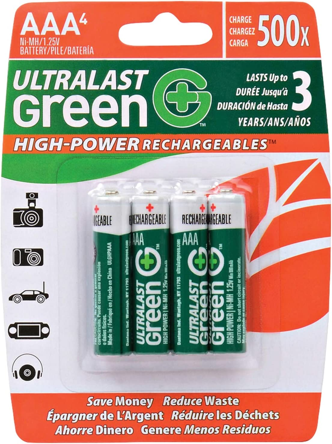 Ultralast ULGHP4AAA Max 56% OFF AAA Green Battery Rechargeable High-Power Popular standard -