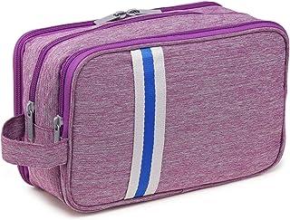حقيبة شوكو موكا لأدوات العناية الشخصية للحمام مناسبة للسفر, , Purple+Strip - CM012-3