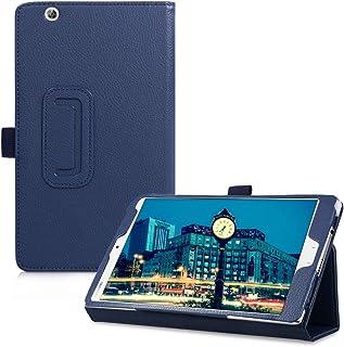 جراب kwmobile متوافق مع Huawei MediaPad M3 8.4 - غطاء تابلت نحيف من الجلد الصناعي مع ميزة الوقوف - أزرق غامق