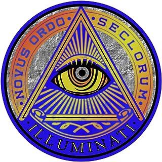 New World Order Illuminati Sticker - Secret Society Holographic Premium Vinyl Decal 3 x 3 Inch   for Car Bumper Window Hyd...