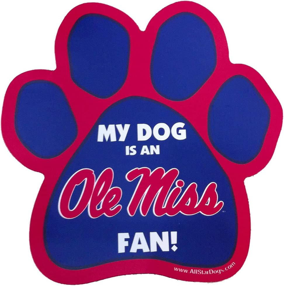 Oklahoma City Mall NCAA Ole Miss Max 60% OFF Rebels Print Paw Magnet Car