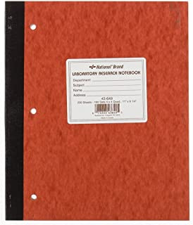 NATIONAL Brand Laboratory Notebook, 4 X 4 Quad, Brown, Carbonless, 11 x 9.25
