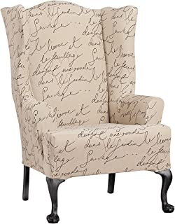 WAVERLY SF43531 Chair Slipcover, Wing, Parchment